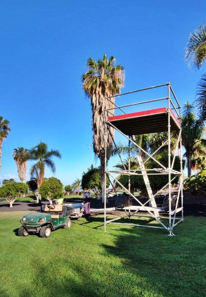Montaje para el Tenerife Open 2021 celebrado en Golf Costa Adeje