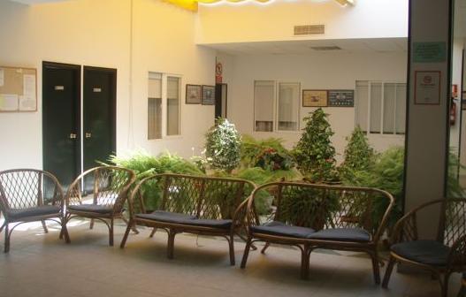 Patio interior de la residencia