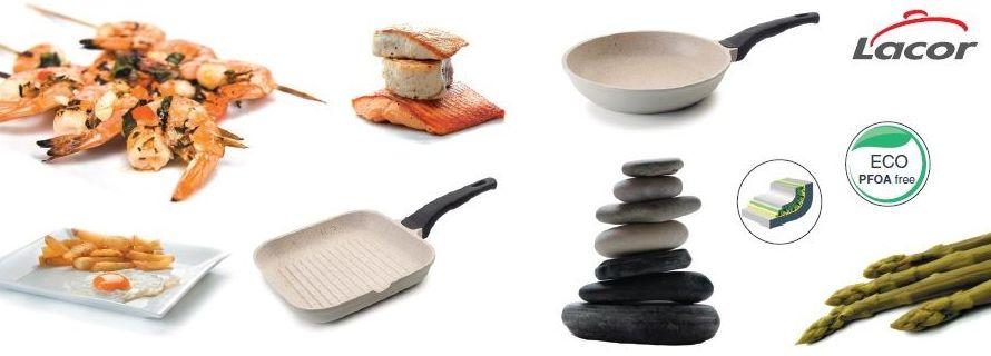sartén y el grill Cream Eco piedra