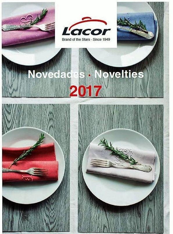 Es un placer hacerle llegar el enlaces a nuestros Catálogo de Novedades Marca Lacor 2017, resultado de un importante esfuerzo por mantener el liderazgo en el mundo de la gastronomía profesional y doméstica.
