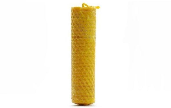 Velas artesanales con cera de abeja