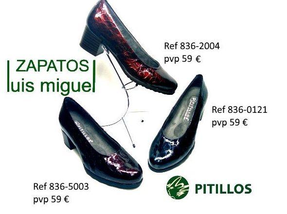Zapato de salon piel imitacion cocodrilo Pitillos : Catalogo de productos de Zapatos Luis Miguel