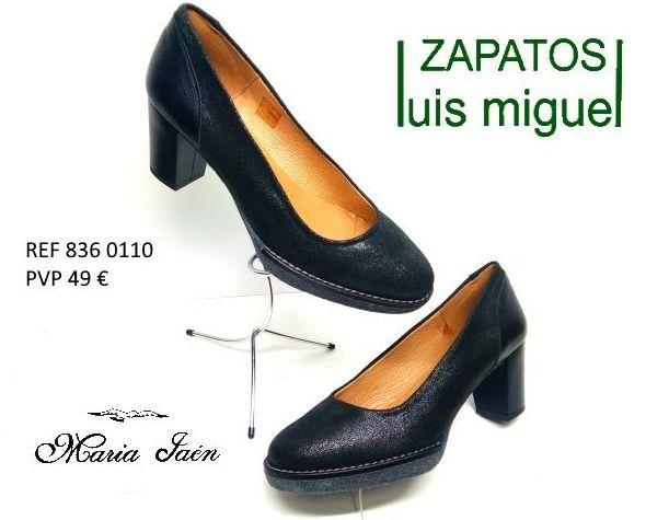 salon calsico con plataforma Maria Jaen (Ref 836-0110): Catalogo de productos de Zapatos Luis Miguel