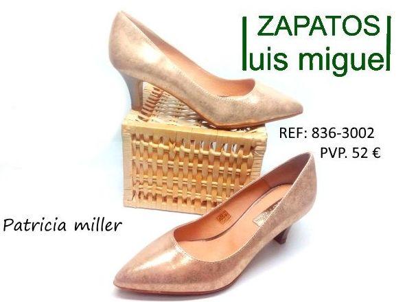 salon clasoco de nobuk y brillo con tacon medio: Catalogo de productos de Zapatos Luis Miguel
