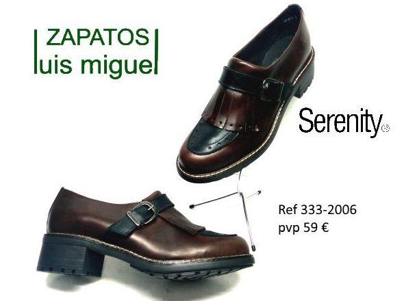 zapato cerrado con hebilla y flecos ( ref 333-2006): Catalogo de productos de Zapatos Luis Miguel