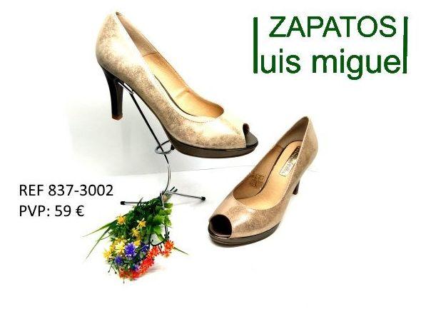 zapato asandaliado abierto en puntera tacon alto: Catalogo de productos de Zapatos Luis Miguel