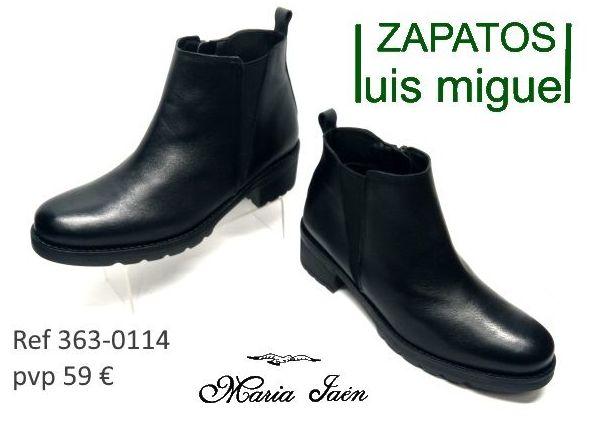sencillos botines de Maria Jaen (ref 363-0114): Catalogo de productos de Zapatos Luis Miguel
