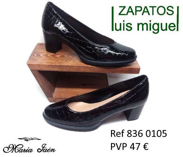 salon piel bovino imitacion a cocodrilo Maria Jaen ( ref 836-0105): Catalogo de productos de Zapatos Luis Miguel