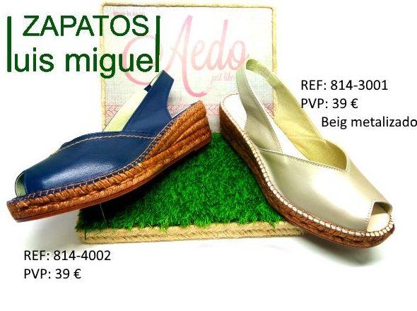 sandalias de esparto puntera abierta: Catalogo de productos de Zapatos Luis Miguel