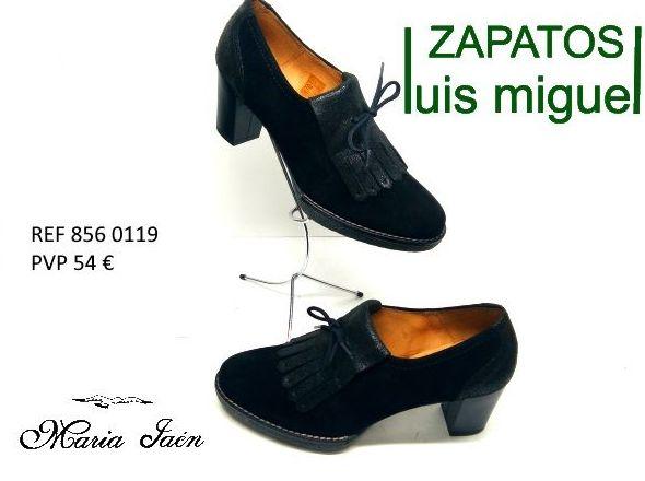 zapato abotinado con flecos y cordon Maria Jaen ( ref 856-0119): Catalogo de productos de Zapatos Luis Miguel