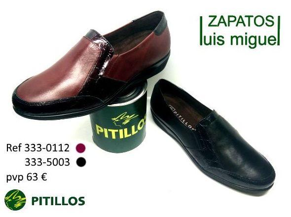 mocasines pitillos con charol dos colores (ref 333 0112 y 333 5003): Catalogo de productos de Zapatos Luis Miguel