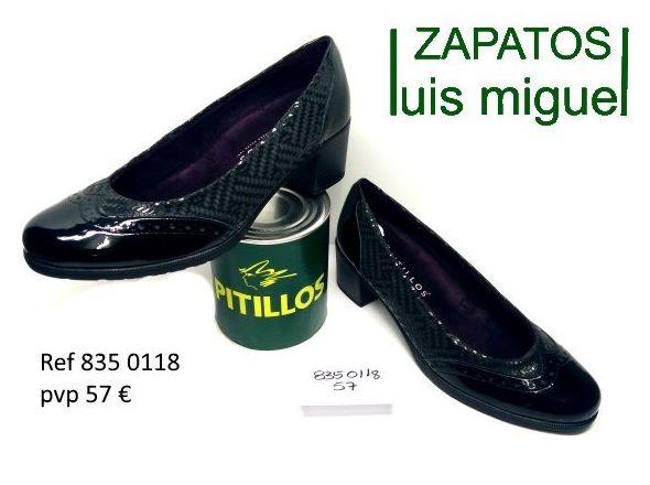 Salon piel grabada tacon medio pitillos (ref 836 0118): Catalogo de productos de Zapatos Luis Miguel