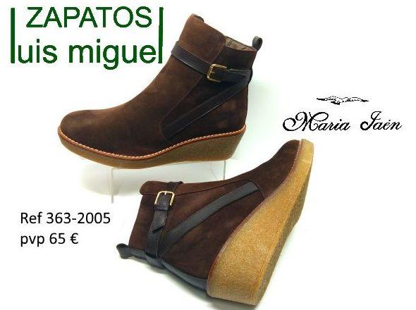 botines de serraje con cuña Maria Jaen ( ref 363-2005): Catalogo de productos de Zapatos Luis Miguel