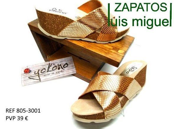 zuecos cruzados de yokono: Catalogo de productos de Zapatos Luis Miguel