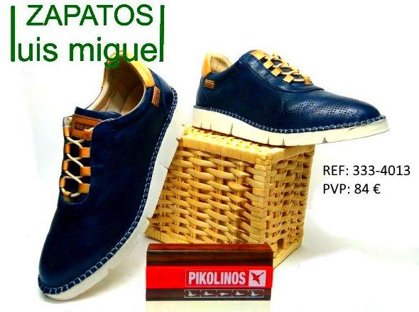 Pikolinos de cordones color cuero: Catalogo de productos de Zapatos Luis Miguel