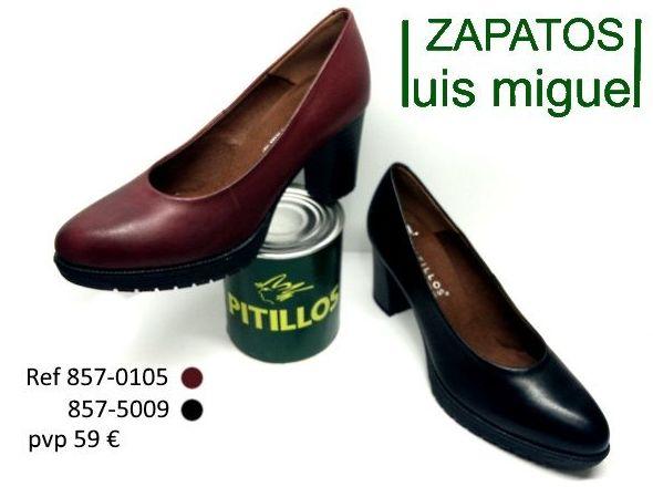 zapatos de salon Pitillos (ref 837-0105 y 837-5009): Catalogo de productos de Zapatos Luis Miguel