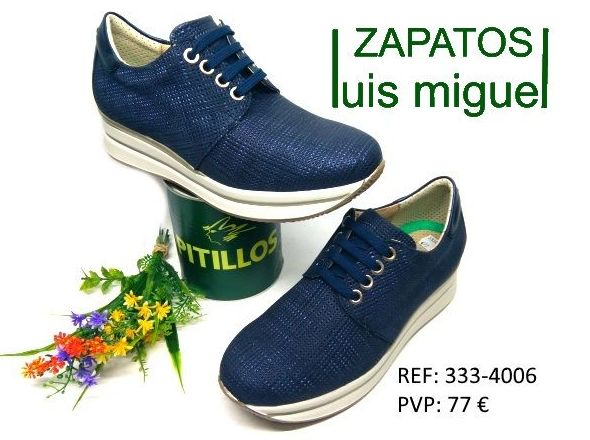 tipo deportivo en piel pitillos: Catalogo de productos de Zapatos Luis Miguel