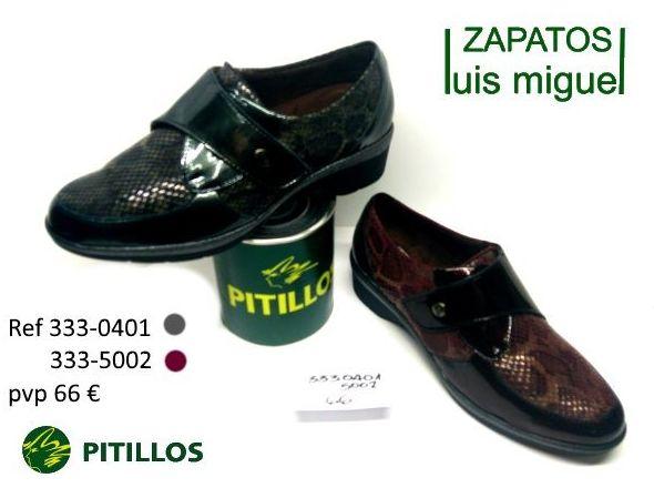 zapato con velcro en dos colores pitillos (ref 333 0401 y 333 5002): Catalogo de productos de Zapatos Luis Miguel
