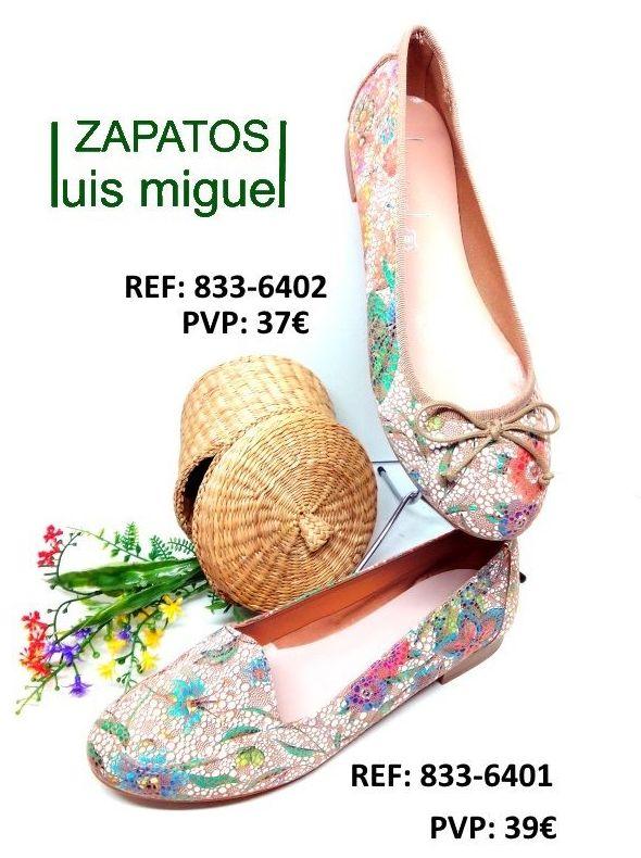 mocasin o manoletina floral Maria Jaen: Catalogo de productos de Zapatos Luis Miguel