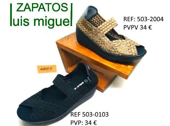 zapatilla cuña con puntera abierta: Catalogo de productos de Zapatos Luis Miguel