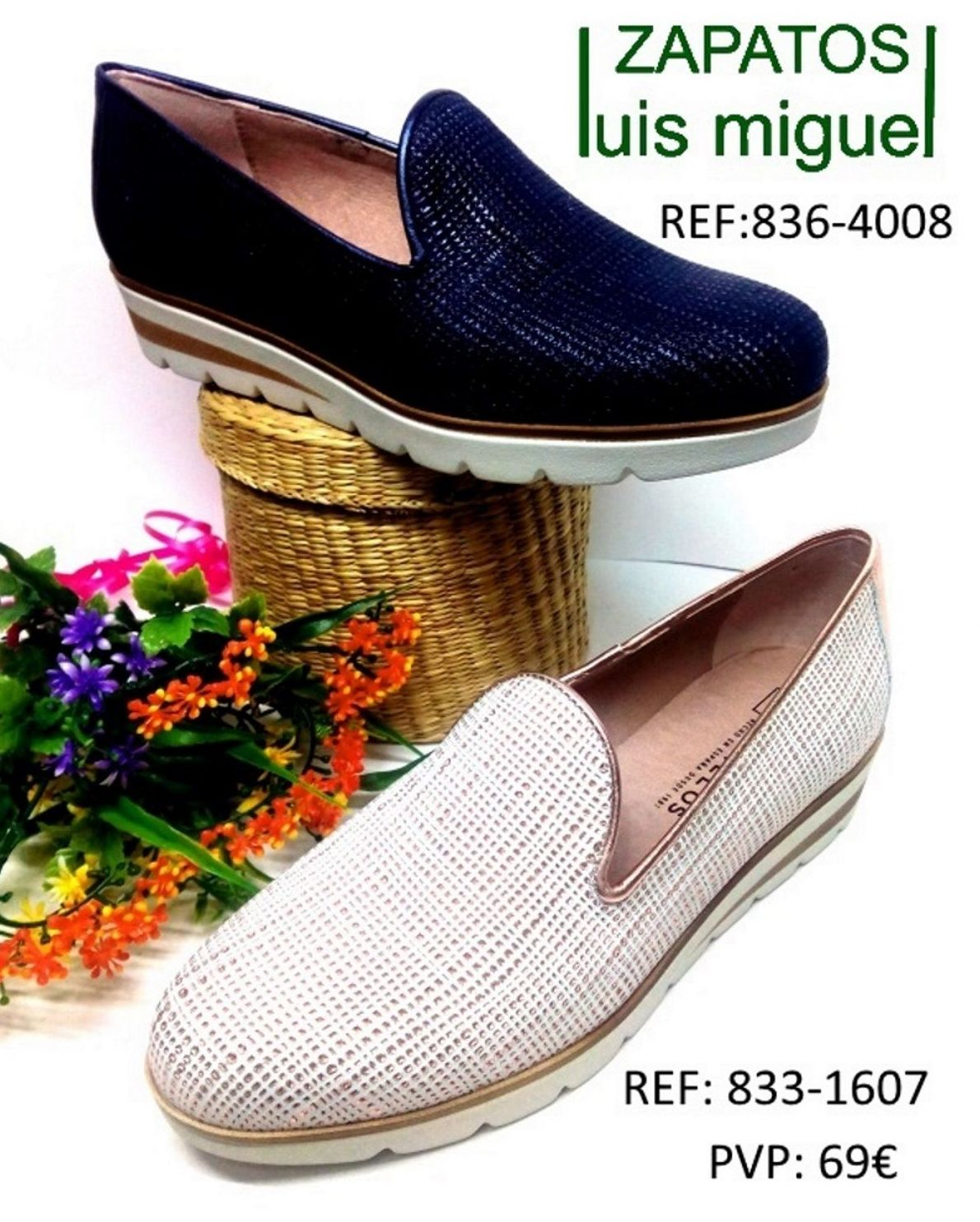 Pitillos mocasin piel y brillo: Catalogo de productos de Zapatos Luis Miguel