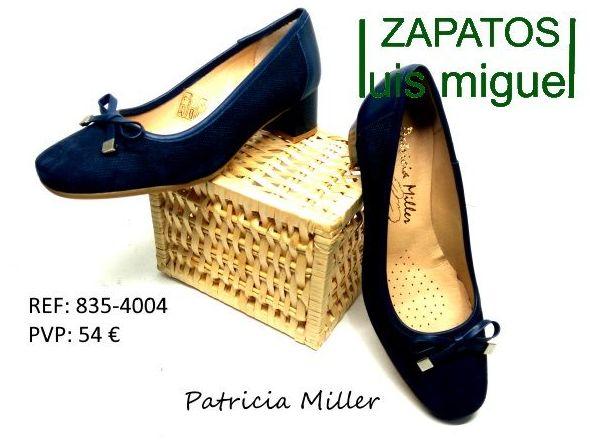 Salon nobuk con lazo tacon bajito : Catalogo de productos de Zapatos Luis Miguel