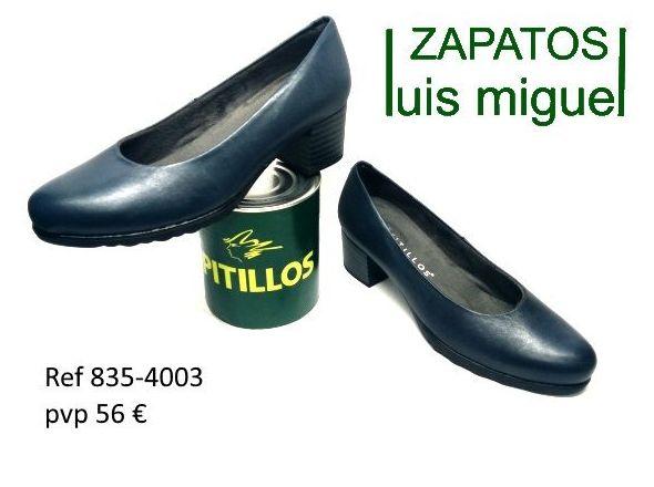 salon tacon bajo color marino pitillos ( ref 835-4003): Catalogo de productos de Zapatos Luis Miguel