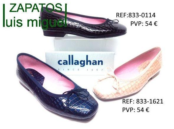 Manoletinas clasicas Callaghan: Catalogo de productos de Zapatos Luis Miguel