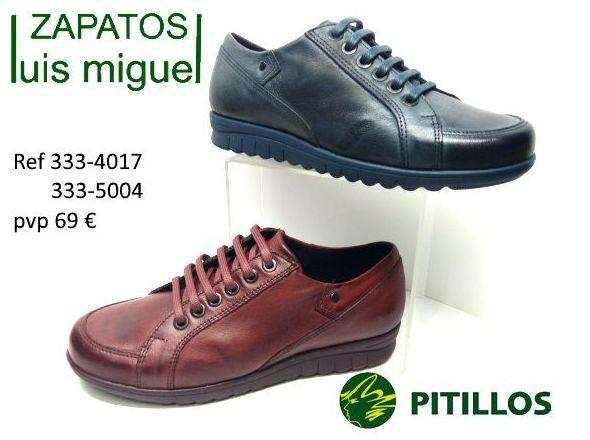 zapatos de Pitillos comodos y anchos ideales para caminar: Catalogo de productos de Zapatos Luis Miguel