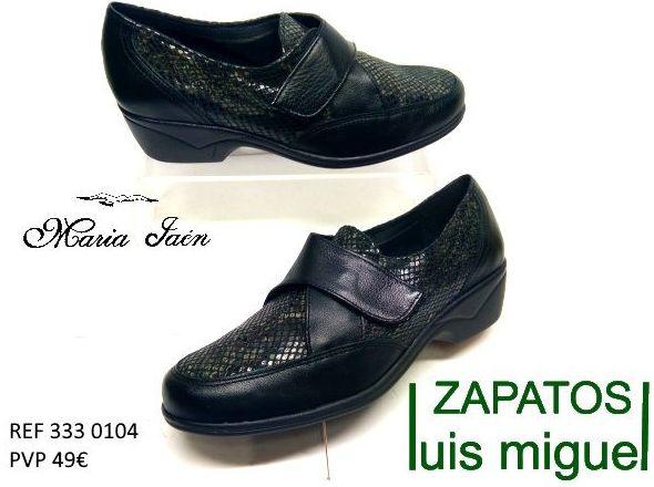 zapato cerrado con velcro Maria Jaen ( ref 333-0104): Catalogo de productos de Zapatos Luis Miguel