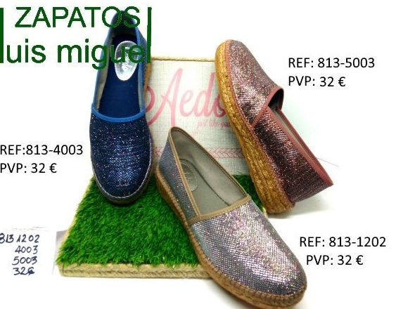 zatapillas de esparto glitter: Catalogo de productos de Zapatos Luis Miguel
