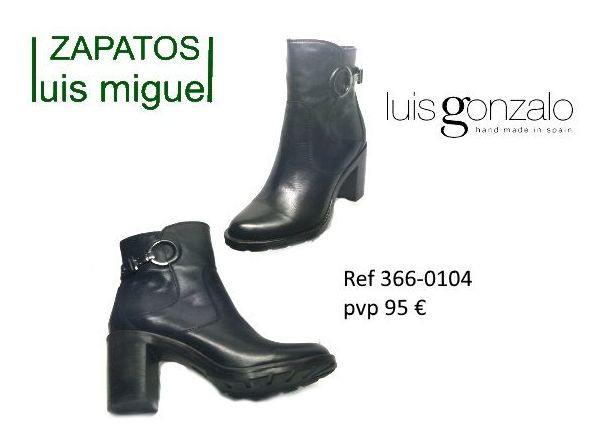 botines Luis Gonzalo tacon medio-alto piso de goma: Catalogo de productos de Zapatos Luis Miguel