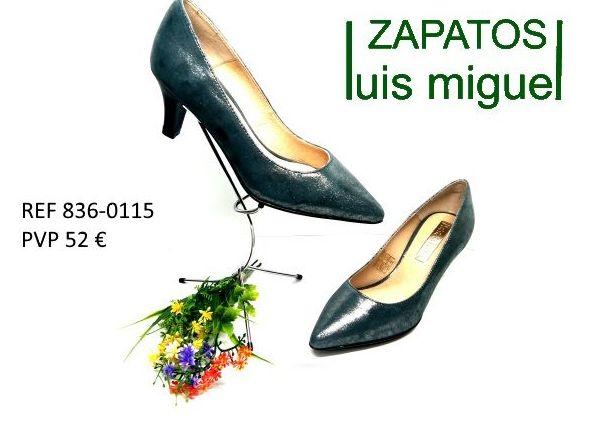 zapato de vestir en negro glitter tacon medio: Catalogo de productos de Zapatos Luis Miguel