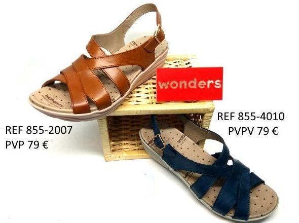 sandalias wonders cuña bajita: Catalogo de productos de Zapatos Luis Miguel