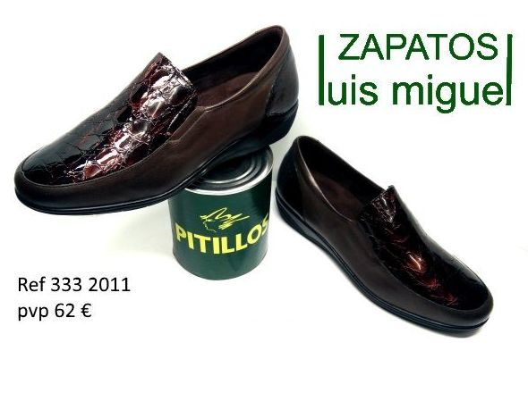 mocasin pala charol marron Pitillos (ref 333 2011): Catalogo de productos de Zapatos Luis Miguel