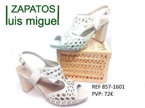 sandalia con tacon alto ancho Pitillos: Catalogo de productos de Zapatos Luis Miguel