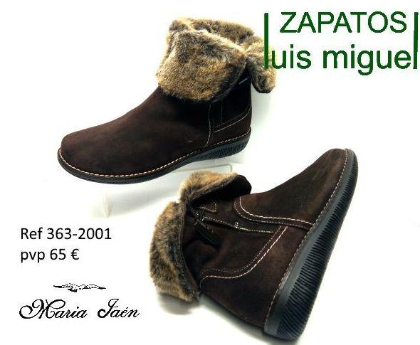 botines juveniles de serraje Maria Jaen ( ref 363-2001): Catalogo de productos de Zapatos Luis Miguel