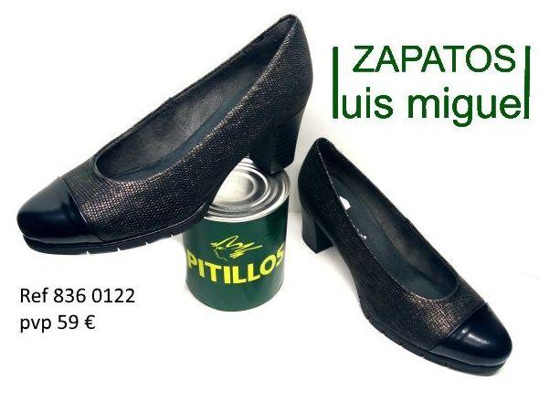 Salon piel grabada tacon medio pitillos (ref 836 0122): Catalogo de productos de Zapatos Luis Miguel
