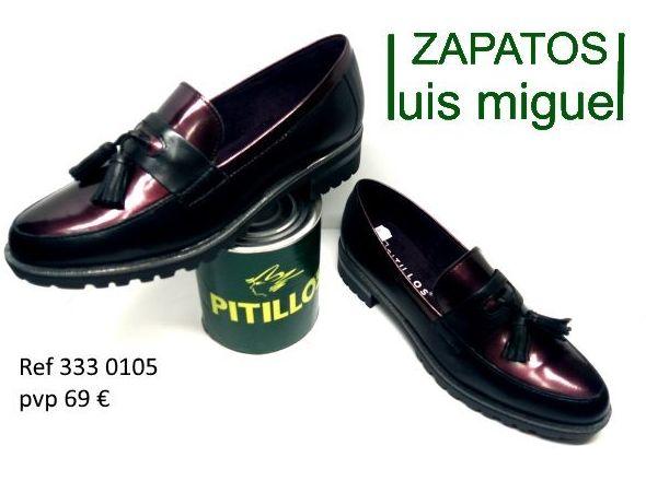mocasin a dos colores con borlas pitillos (ref 333 0105): Catalogo de productos de Zapatos Luis Miguel