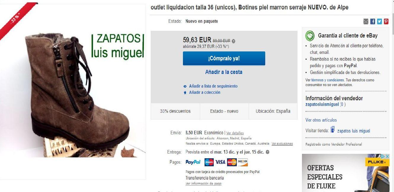 oferta especial oulet en nuestra tienda eBay VISITANOS¡¡¡