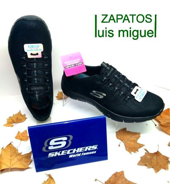 nuevas Skechers en negro con elasticos: Catalogo de productos de Zapatos Luis Miguel