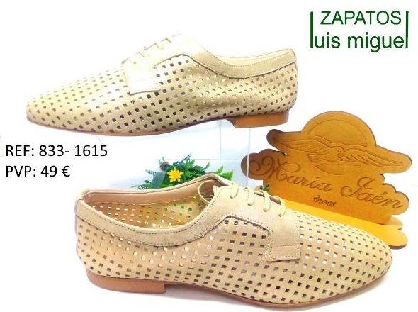 Zapato de cordon nobuk calado Maria Jaen: Catalogo de productos de Zapatos Luis Miguel