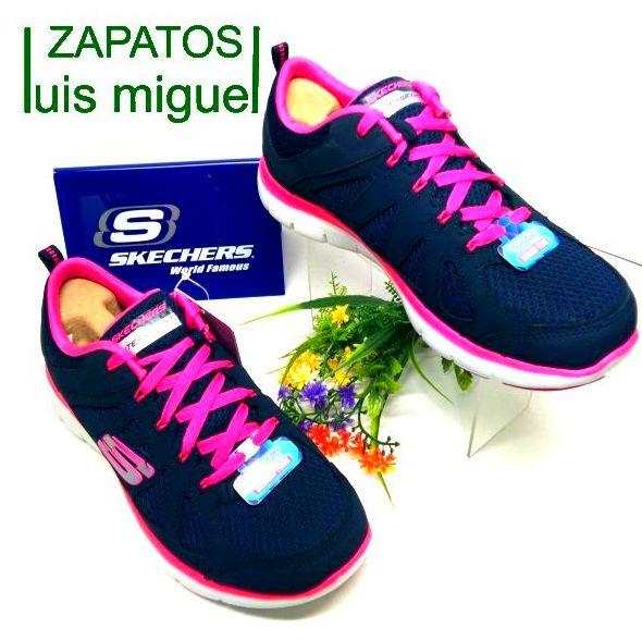 skechers nylon azul marino y fucsia: Catalogo de productos de Zapatos Luis Miguel