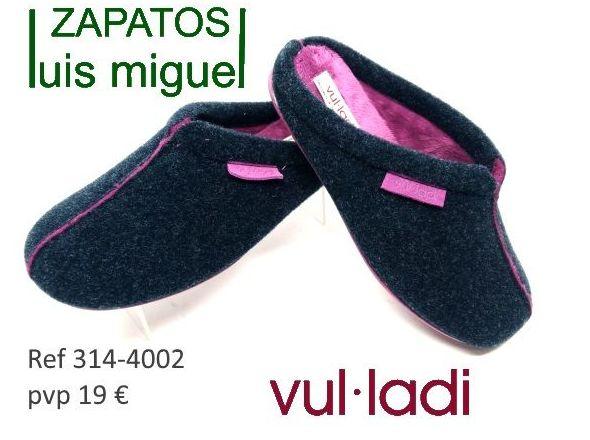 zapatillas de estar en casa Vulladi ( ref 314-4002): Catalogo de productos de Zapatos Luis Miguel