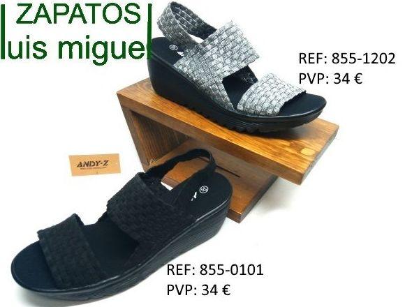 Sandalias de elasticos de andy-z: Catalogo de productos de Zapatos Luis Miguel