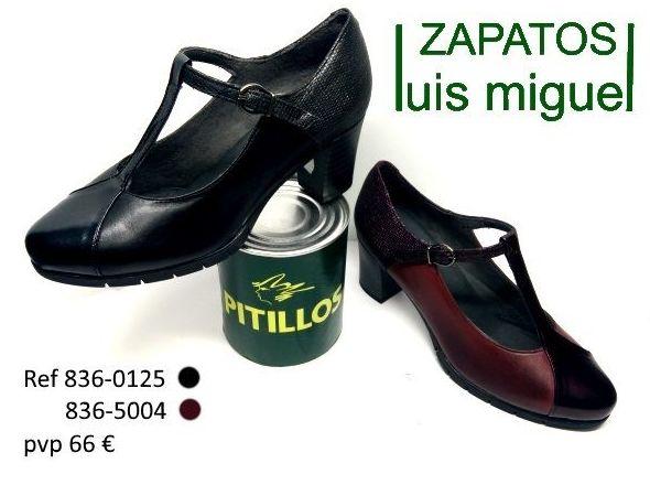 zapato tipo mercedes con tira central Pitillos (ref 836-0125 y 836-5004): Catalogo de productos de Zapatos Luis Miguel