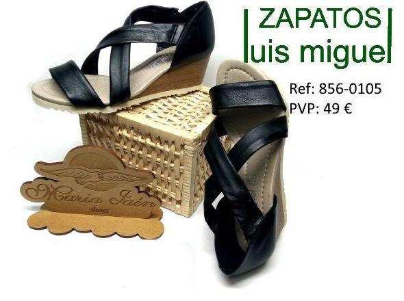 sandalia cruzada con cuña maria jaen: Catalogo de productos de Zapatos Luis Miguel