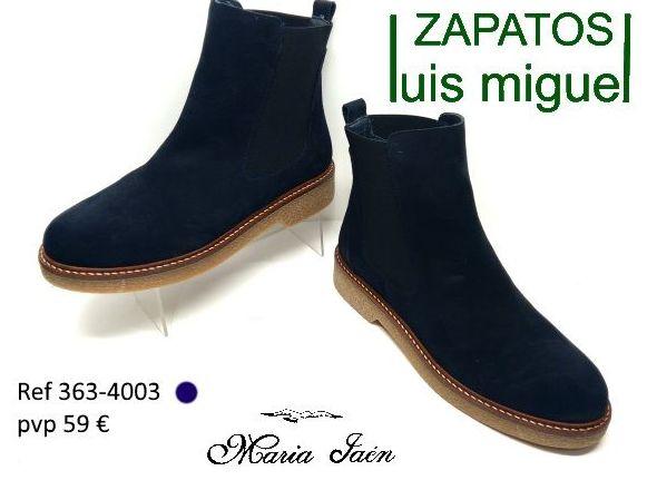 botines de piel serraje Maria Jaen ( ref 363 4003): Catalogo de productos de Zapatos Luis Miguel