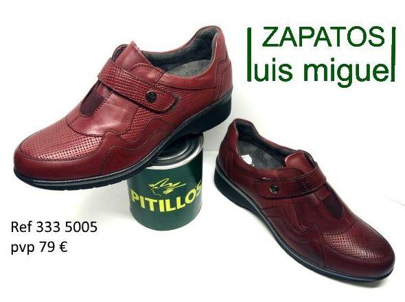 zapato deportivo con velcro burdeos pitillos (ref 333 5005): Catalogo de productos de Zapatos Luis Miguel