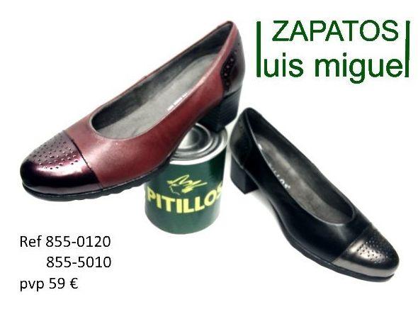 salon puntera recta pitillos en dos colores ( ref 855 0120 y 855 5010): Catalogo de productos de Zapatos Luis Miguel